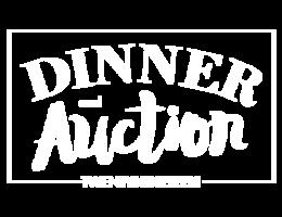 Dinner   auction logo   white