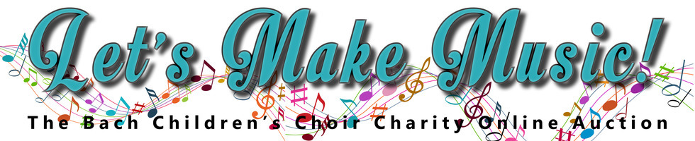 Let s make music online auction banner 3