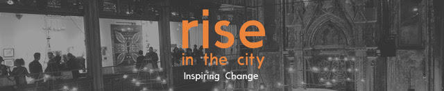 Rise in the city post event logo
