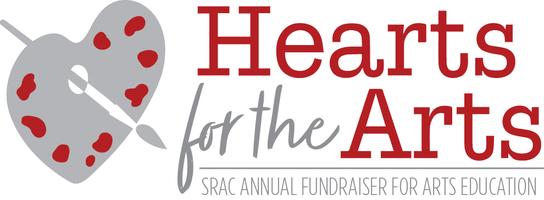 Hearts for the arts 2017 logo