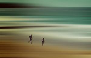 Father son run manly beach s300