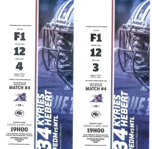 Alouettes tickets 2 s300