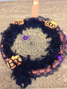 Halloween wreath s300