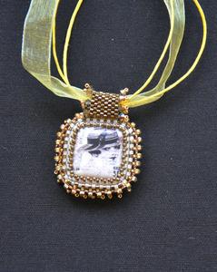 Gold art deco necklace s300