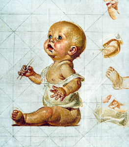 Leyendecker new year s baby blowing bubbles study 32a s300