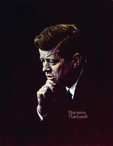 Rockwell portrait of john f kennedy 32a s300