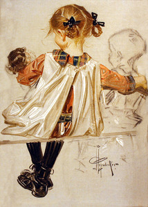 Leyendecker young girl with doll 32a s300