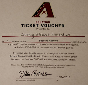 Diamondback baseline reserve tickets  1 of 1  s300
