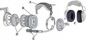 Oregon aero aviation headset component diagram large s300