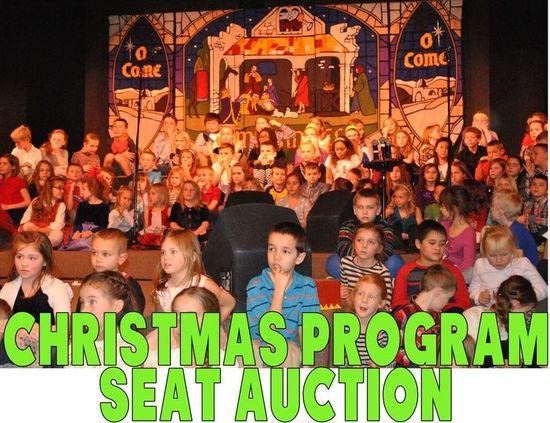 Christmas program seat auction s550