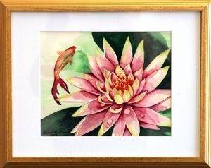 Pink lilly koi pond           eleanor f. strauser s300