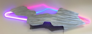 Cloud neon by mile you for resale.jpg 32 x 72 x 4 aluminum and acrylic and neon s300