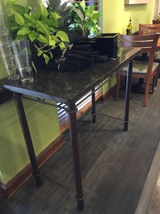 Metal sideboard with granite top2 s300