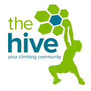 The hive bouldering gym 3 logo s300
