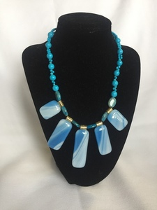 Turquoise statement necklace s300