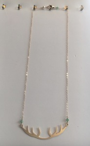 Ana conley antler necklace s300