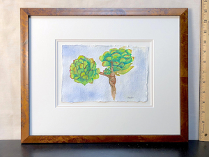 Art   succulents watercolor art s300