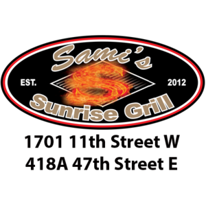 Samis sunrise grill logo with locations 1 s300