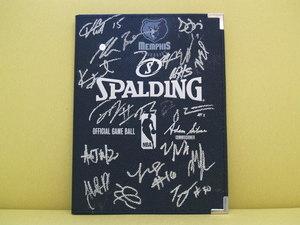 Grizzlies autographed padfolia s300