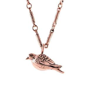 Rose gold dove necklace   white backround s300