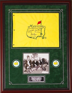 Arnold palmer jack nicklaus gary player masters flag s300