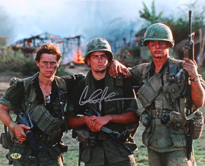 Main 1524505992 charlie sheen signed platoon 16x20 photo mab hologram pristineauction.com s300