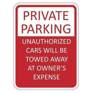 44096713 red and white private parking sign vector illustration s300