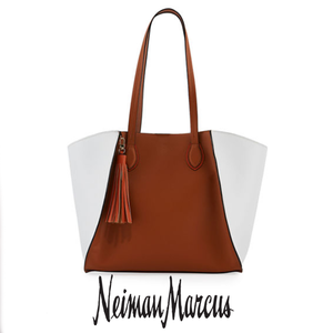 Color block brown tote s300