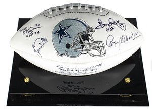 Dallas cowboys autographed ball 2 s300