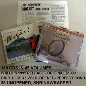 Complete mozart cds s300
