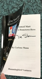 Matt stairs signed book s300