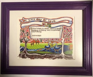 Wedding certificate s300