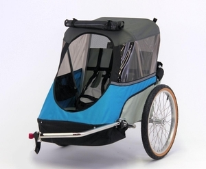 Wike junior bicycle trailer blue gray open s300