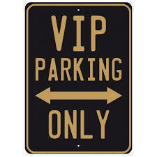 Vip parking only s300