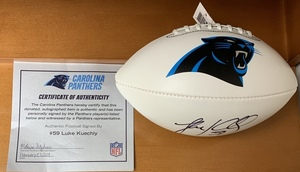 Luke kuechly signed football s300