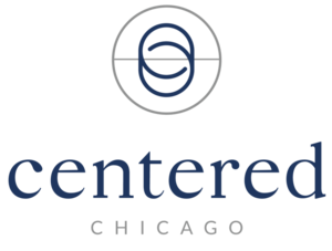 Centeredchicago logos pantone 534c blue stacked s300