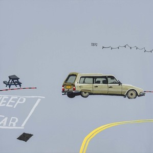Annie clay   citroen lna   acrylic on canvas 30cm w x 30cm l auction pic 2 s300