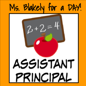 Assistant principal for a day s300
