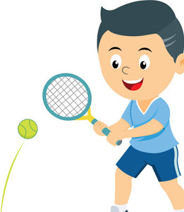 Boy playing tennis clipart 2 517 s300