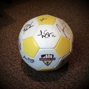 Lcfc signed soccer ball  2  s300