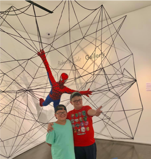 Students with spiderman s550