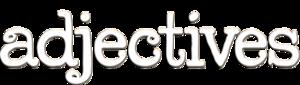 Adjectives logo white 500px s300