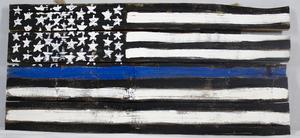 Item 73   medium blueline flag s300