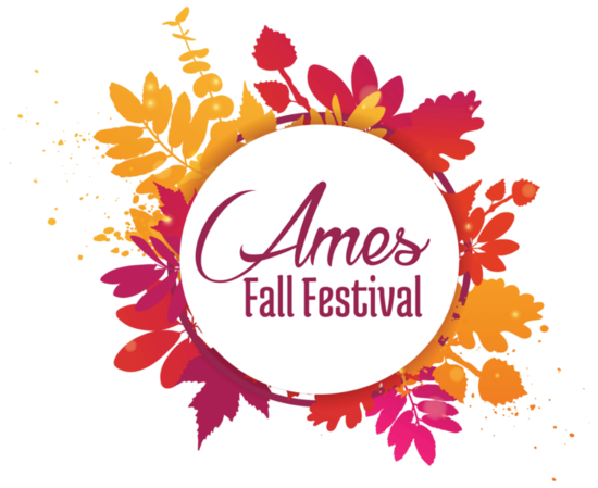 Ames fall festival logo white s550