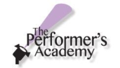 Performers academy logo s300