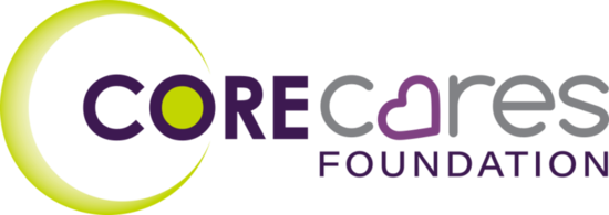 The core group cares foundation logo 4c s550
