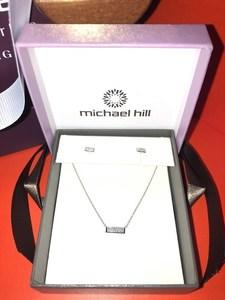Michael hill diamond earring and pendant set 2 s300