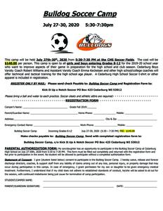 Bulldog soccer camp 2020 s300