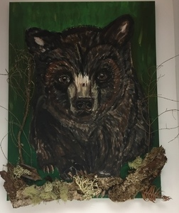 Bear bark wl pwlr 18x24 s300