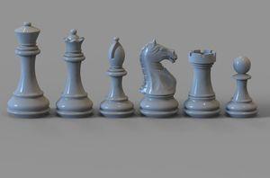 Chess set pieces 3d model max obj fbx stl skp s300